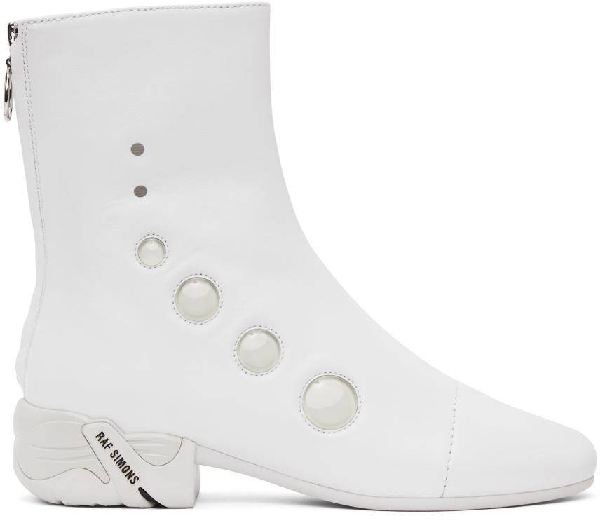 Raf Simons 白色 Solaris-21 拉链踝靴