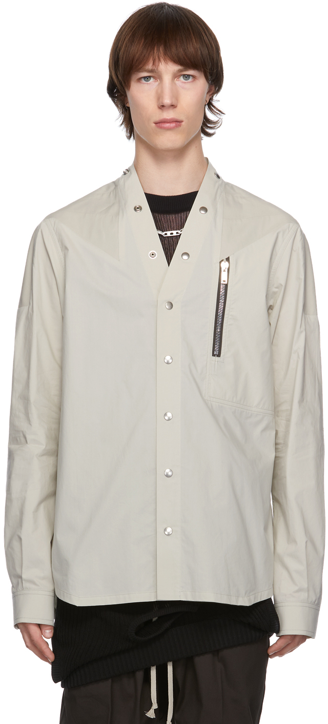 Rick Owens 灰白色 Performa 衬衫