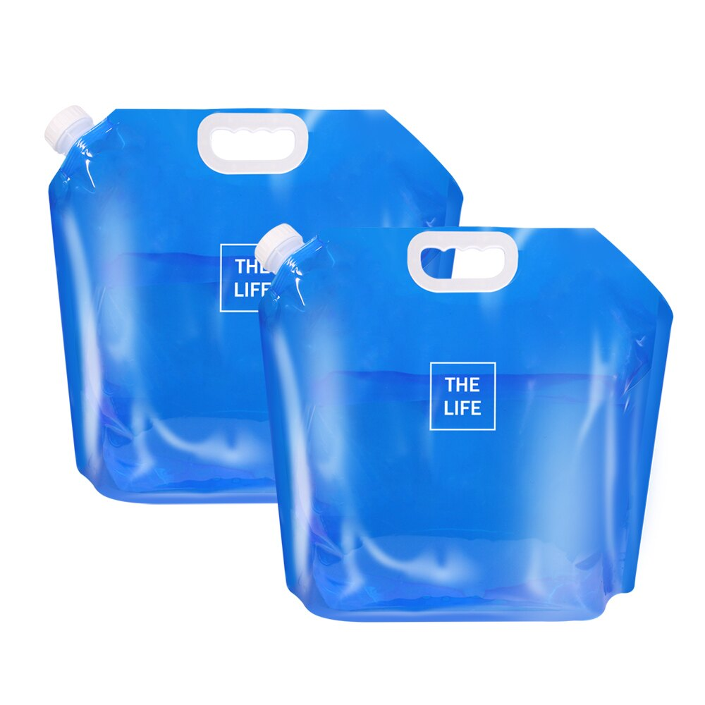 TheLife樂生活 好方便折疊水袋露營水袋手提儲水桶10L(2入組)【ME0119】(SE0078S)