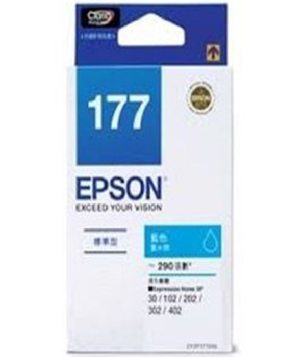 t177250 epson 原廠標準型藍色墨水匣 (no.177) 適用 xp102/xp202/x