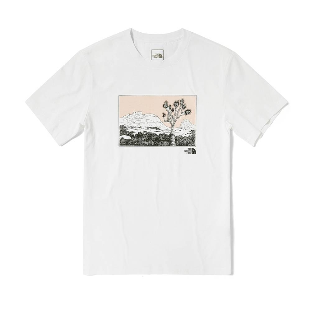 The North Face SS21 Graphic Tee 男女 短袖上衣 白