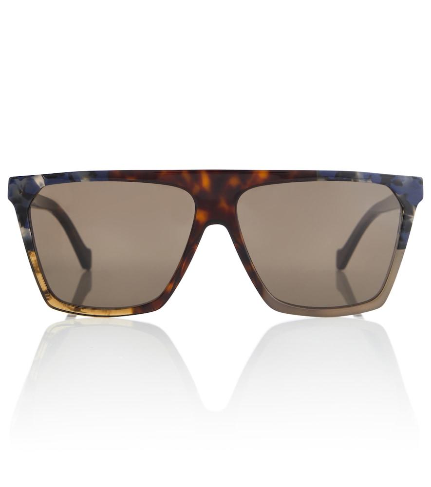 Thin oversized square sunglasses