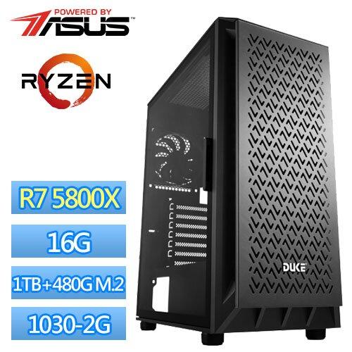 技嘉B550平台【儀式符文】R7八核獨顯電玩機(R7-5800X/16G/1TB/480G_SSD/GT1030-2G)
