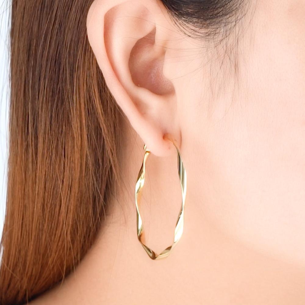 螺旋圓圈耳環(金/銀)
