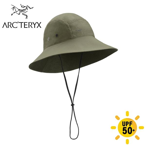 【ARC TERYX 始祖鳥 Sinsola hat 抗UV遮陽帽《龍紋綠》】23197/防曬帽/圓盤帽/防晒透氣/登山/健行