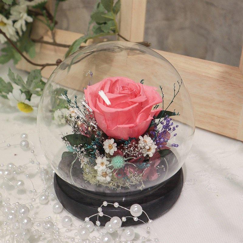 【一人成團】不凋花玻璃罩盅手作體驗課程 台中 永生花 乾燥花