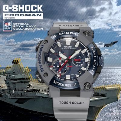 CASIO卡西歐 G-SHOCK 電波 藍牙 太陽能電力 潛水級防水 英國皇家海軍聯名 GWF-A1000RN-8A_53.3mm