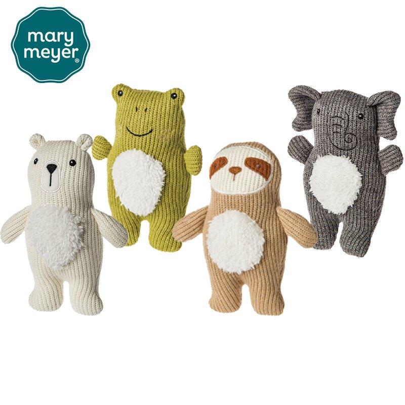 【Mary Meyer蜜兒】柔軟手搖鈴-針織系列(多款可選) 安撫玩偶 手搖鈴 幼兒玩具-米菲寶貝