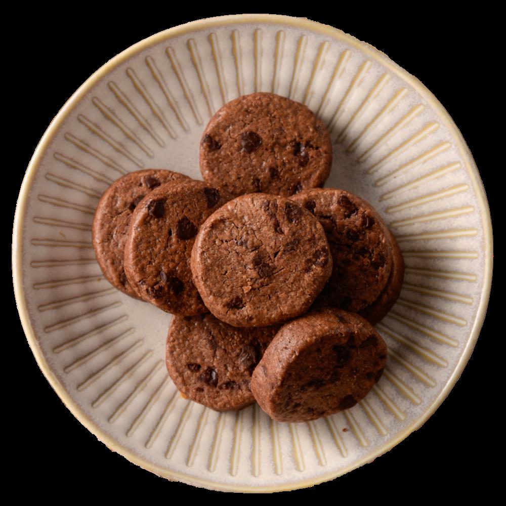 有個熊 《法式巧克力豆餅乾》 小熊包–18片/包 手工餅乾 下午茶