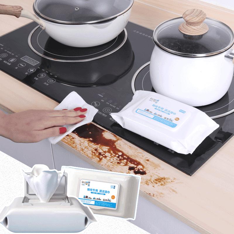 強效去油廚房清潔濕紙巾