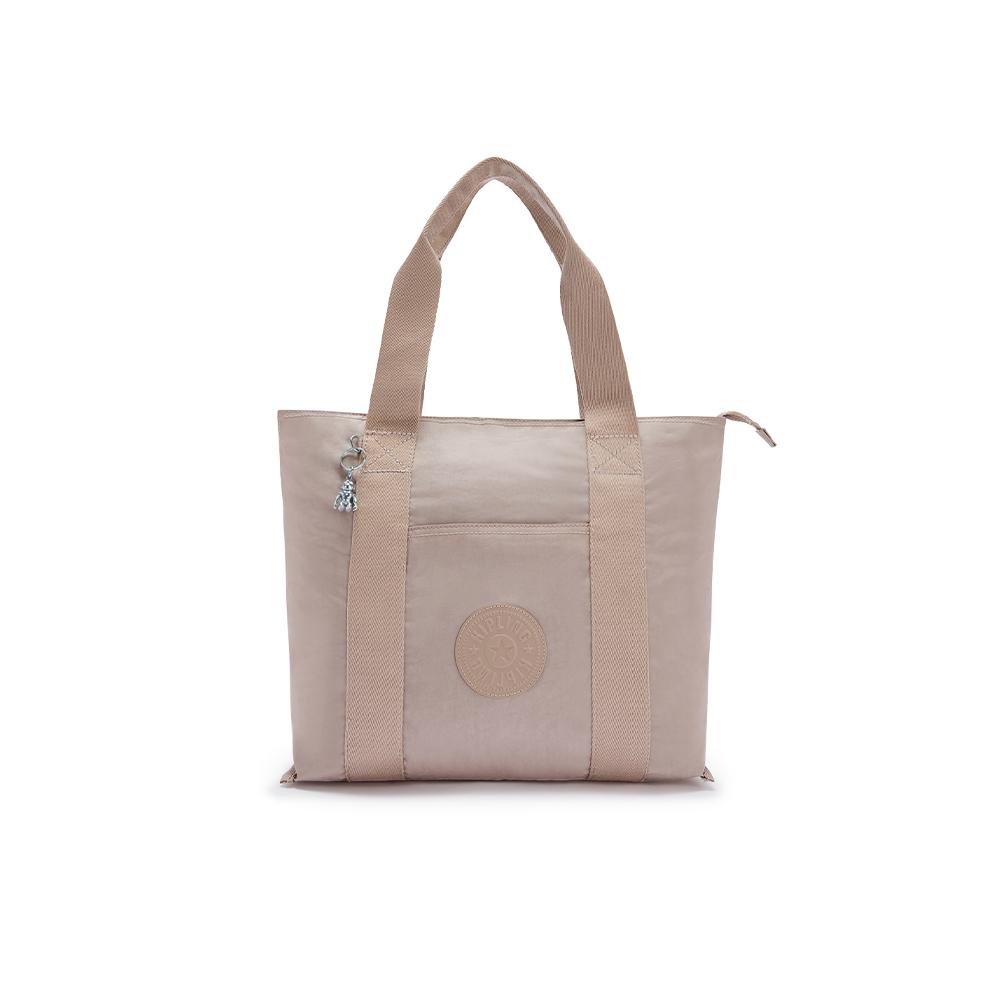 玫瑰拿鐵色大容量手提包-ERA M