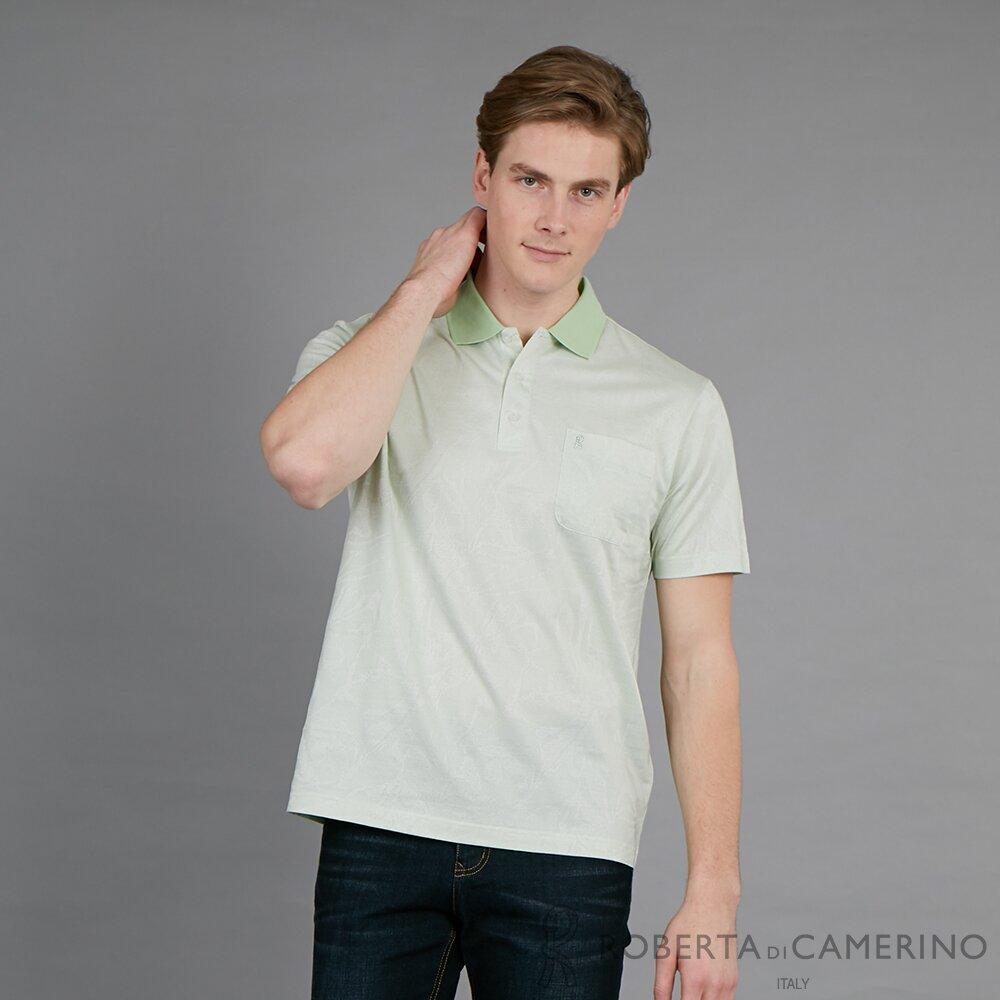ROBERTA諾貝達 台灣製 休閒流行 時尚精品短袖POLO棉衫  淺綠