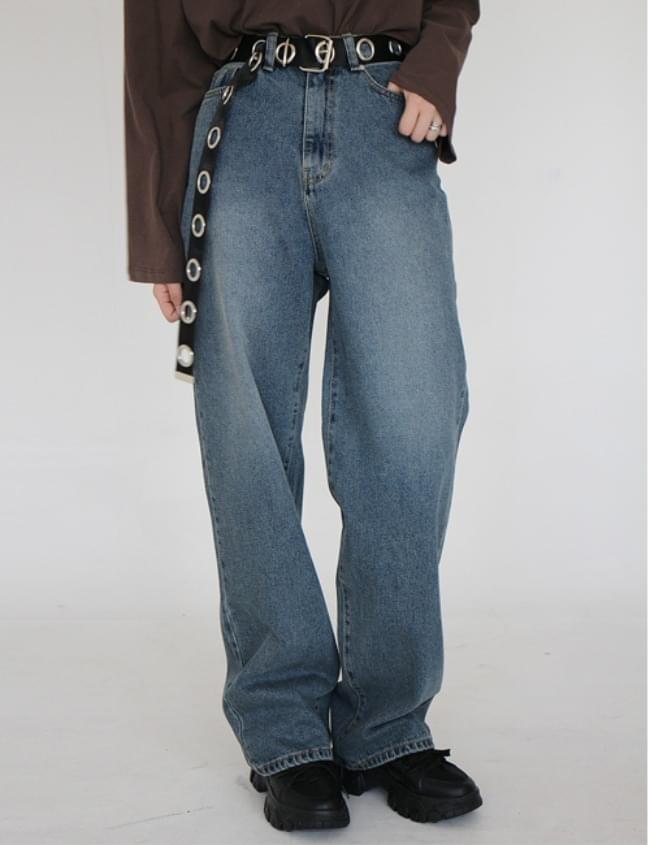 韓國空運 - Normal Green Denim Pants 牛仔褲