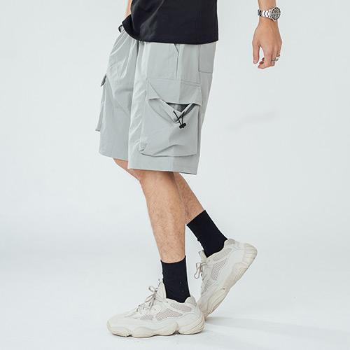 BOY2小二布屋【NQ911003】休閒短褲 街頭大口袋美式工裝短褲/現+預