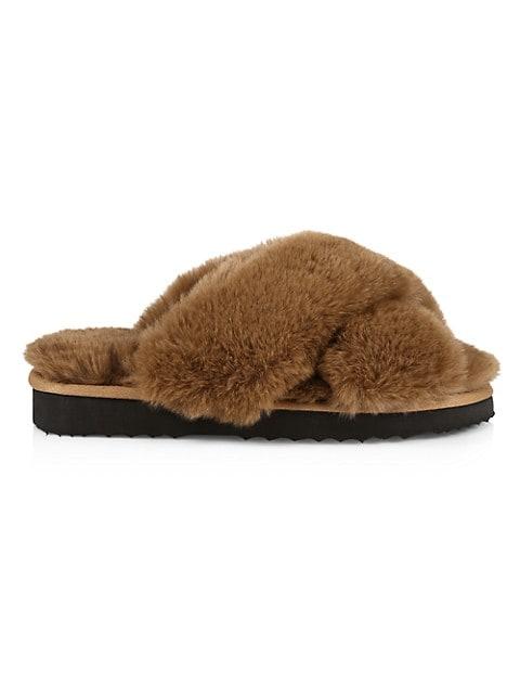 Elsa Faux Fur Slippers
