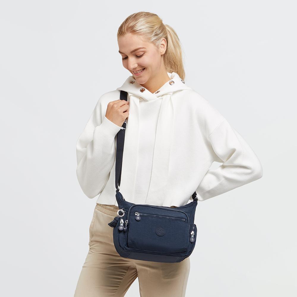 都市沉穩藍多袋實用側背包-GABBIE S