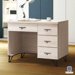 【Hampton 漢汀堡】安娜利鋼刷白3.5尺書桌