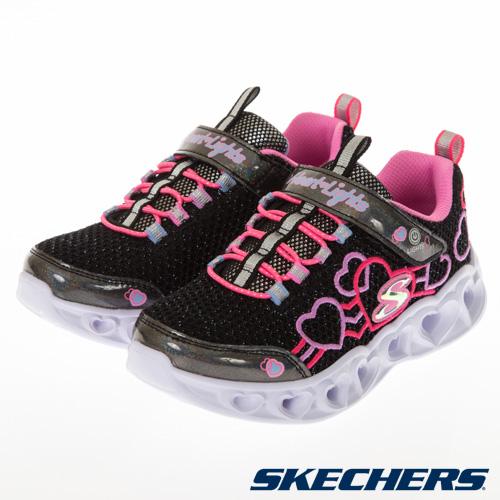 SKECHERS 女童系列 HEART LIGHTS - 302080LBKMT