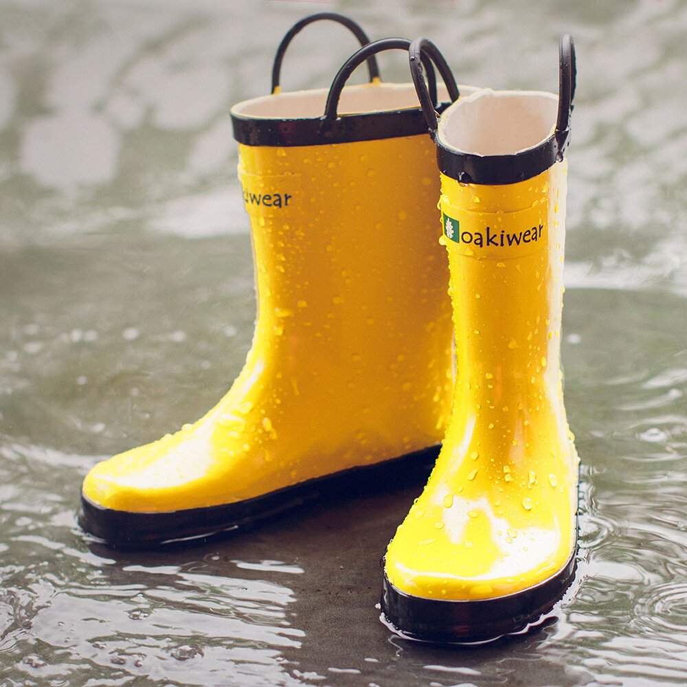 美國oaki 兒童提把雨鞋 11503 香蕉黃
