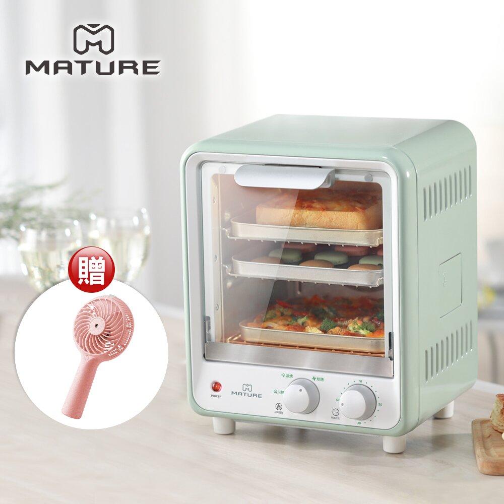 MATURE 美萃 雙層蒸氣旋風9L烤箱-薄荷綠 CY-1680
