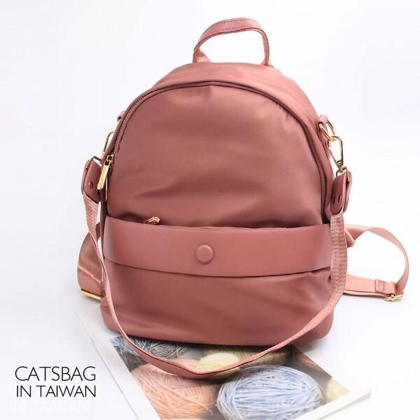 catsbag  防潑水尼龍後背包肩背包 防盜包 雙拉鍊後背包