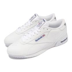 Reebok 休閒鞋 Exofit Lo 低筒 穿搭 男女鞋 海外限定 皮革 簡約 球鞋 情侶款 白 藍 AR3169 [ACS 跨運動]