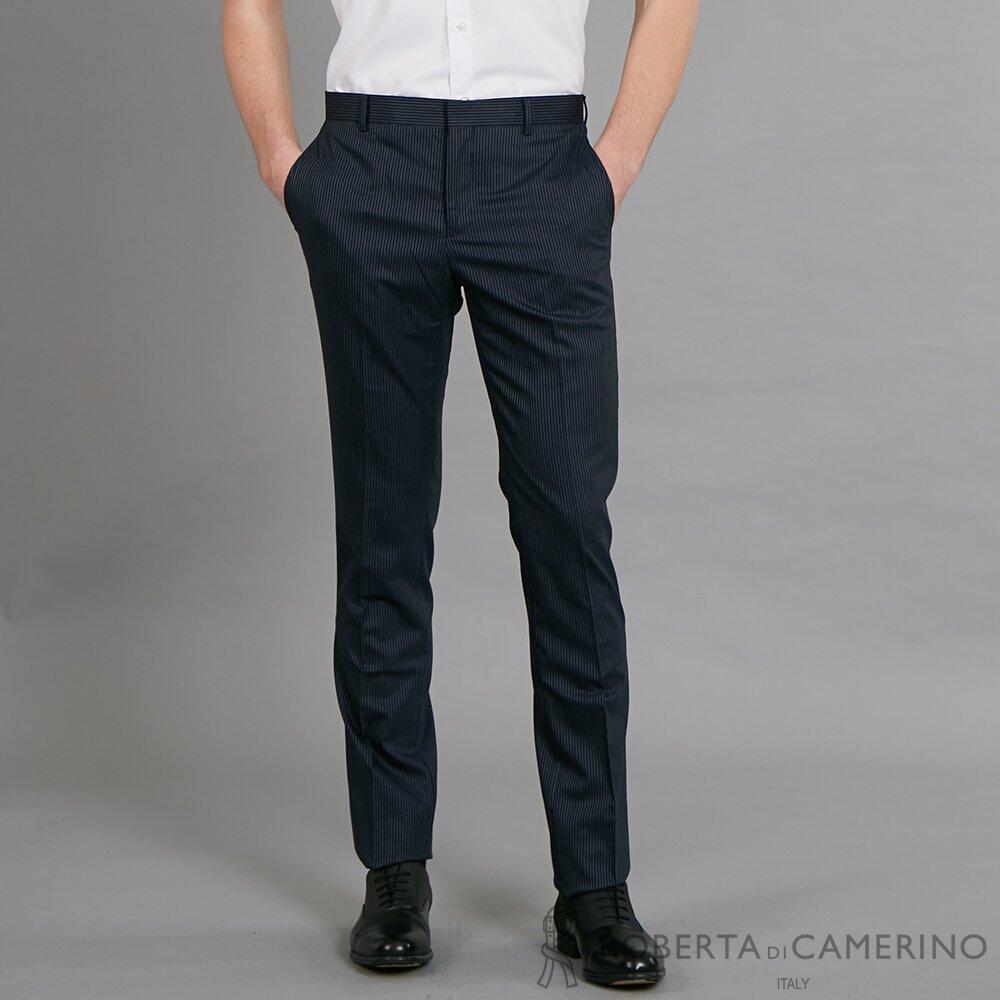 ROBERTA諾貝達 清新型男 簡約時尚 平面西裝褲 藍黑