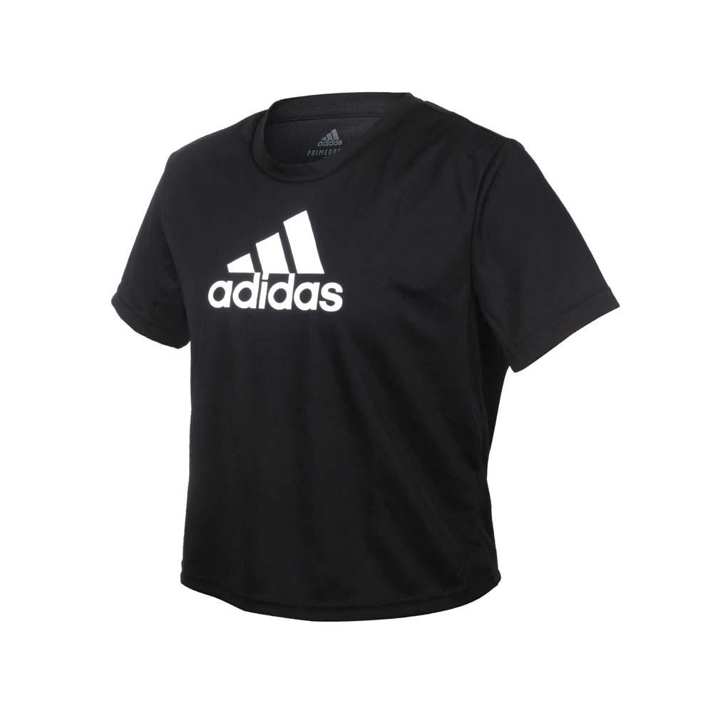 ADIDAS 女短袖T恤-亞規 吸濕排汗 慢跑 路跑 運動 上衣 愛迪達 黑白
