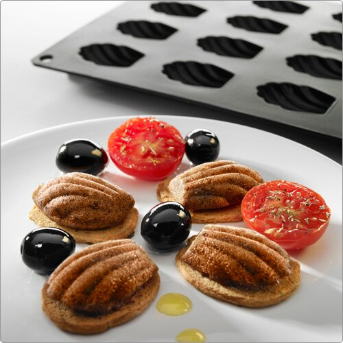 《LEKUE》20格瑪德蓮烤盤(黑)