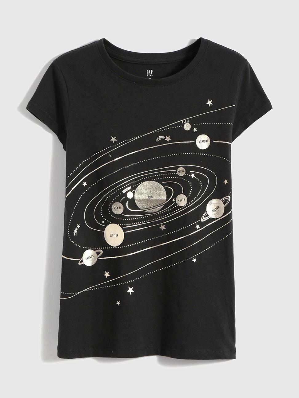 女童 純棉印花短袖T恤