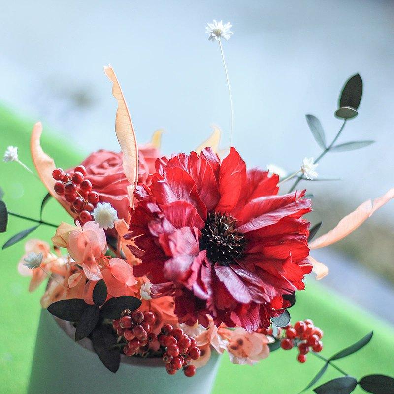 【一人成團】乾燥花桌花擺飾 永生花盆花 手作療癒小物課程 台中