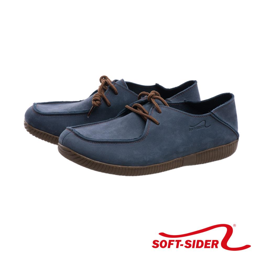 montoya.女款 藍色 磨砂皮2WAY 二穿式後踩懶人鞋-391