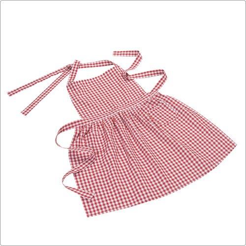 《NOW》經典雙袋圍裙(格紋紅)