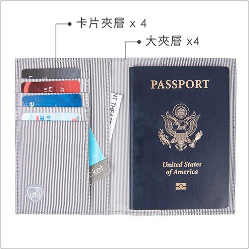 《TRAVELON》兩折式護照夾(紅)