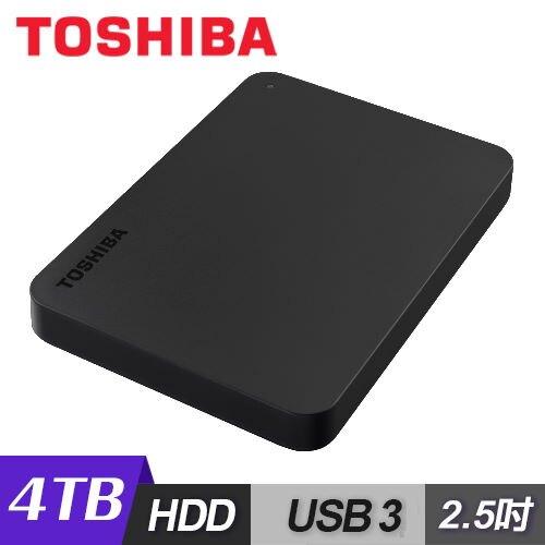 【TOSHIBA】黑靚潮III 4TB USB3.0 2.5吋行動硬碟(黑)【三井3C】