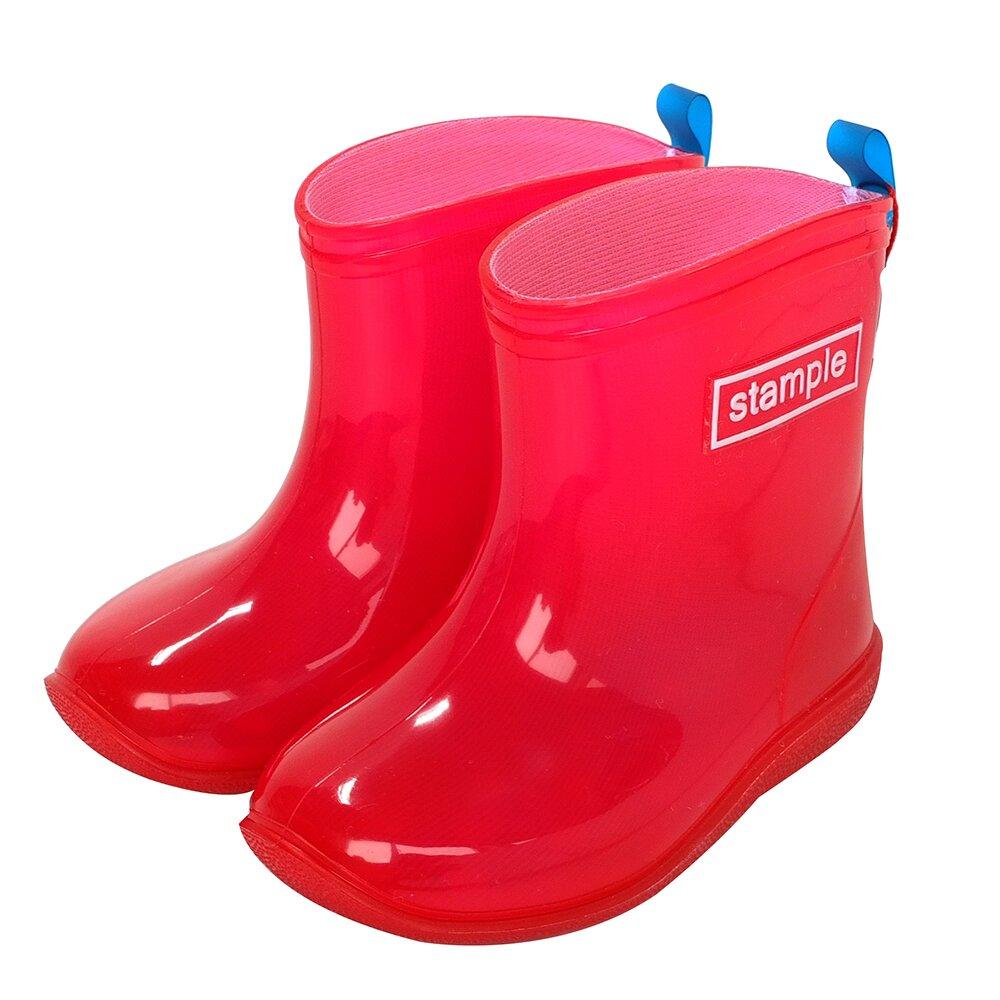 日本製 stample兒童雨鞋-果凍粉