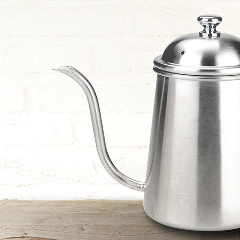 【贈濾掛】Tiamo 手沖溫度 專業職人滴漏式細口咖啡壺 0.7L