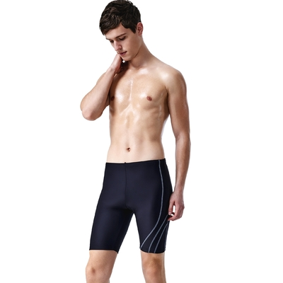 沙兒斯 泳裝 單側邊紋飾七分男泳褲