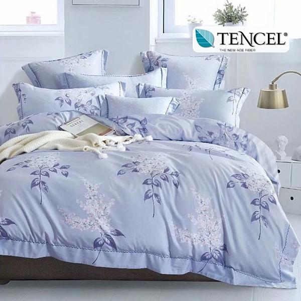 台灣製天絲吸濕排汗 薄床包枕套組 加高35CM (雙人、加大)《夏日庭樹》