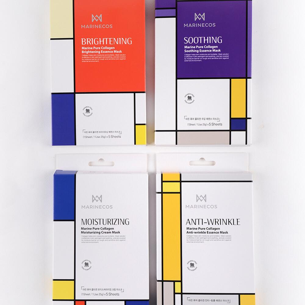 限時限量優惠韓國marinecos 高純度海洋膠原蛋白系列保濕/明亮/舒緩/抗皺,四盒一次購