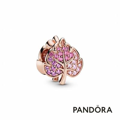 【Pandora官方直營】璀璨密鑲葉片串飾