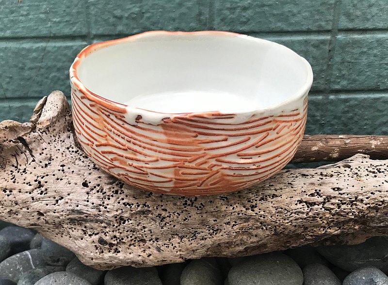 黃白玉造型陶湯碗 志野釉還原燒法 餐碗 餐具 湯碗