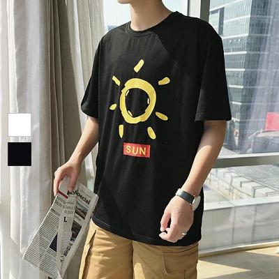太陽SUN落肩短袖TEE【007840AAAA】