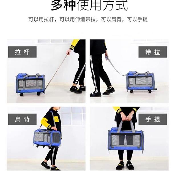 寵物外出包貓包包狗背包拉桿箱包便攜包車載可折疊大號貓狗旅行包