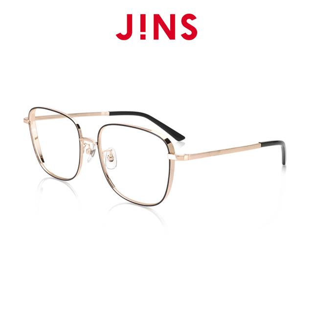 【JINS】 零失誤百搭經典眼鏡(AMMF20A082)黑金