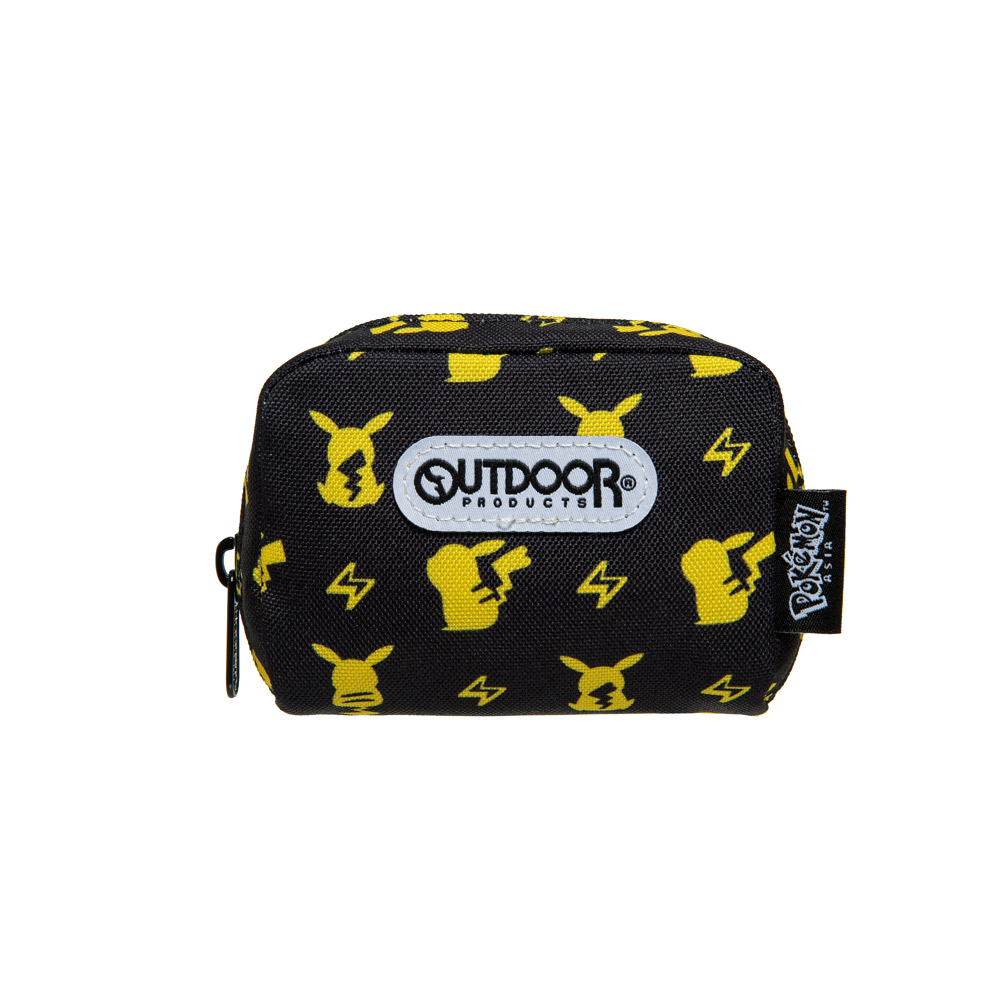 【OUTDOOR】Pokemon聯名款潮黑皮卡丘單層零錢包-黑色 ODGO20B12BK