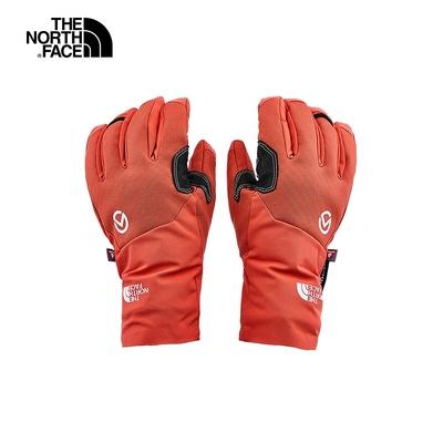 The North Face北面男女款紅色休閒舒適戶外五指手套 3SIAVS2
