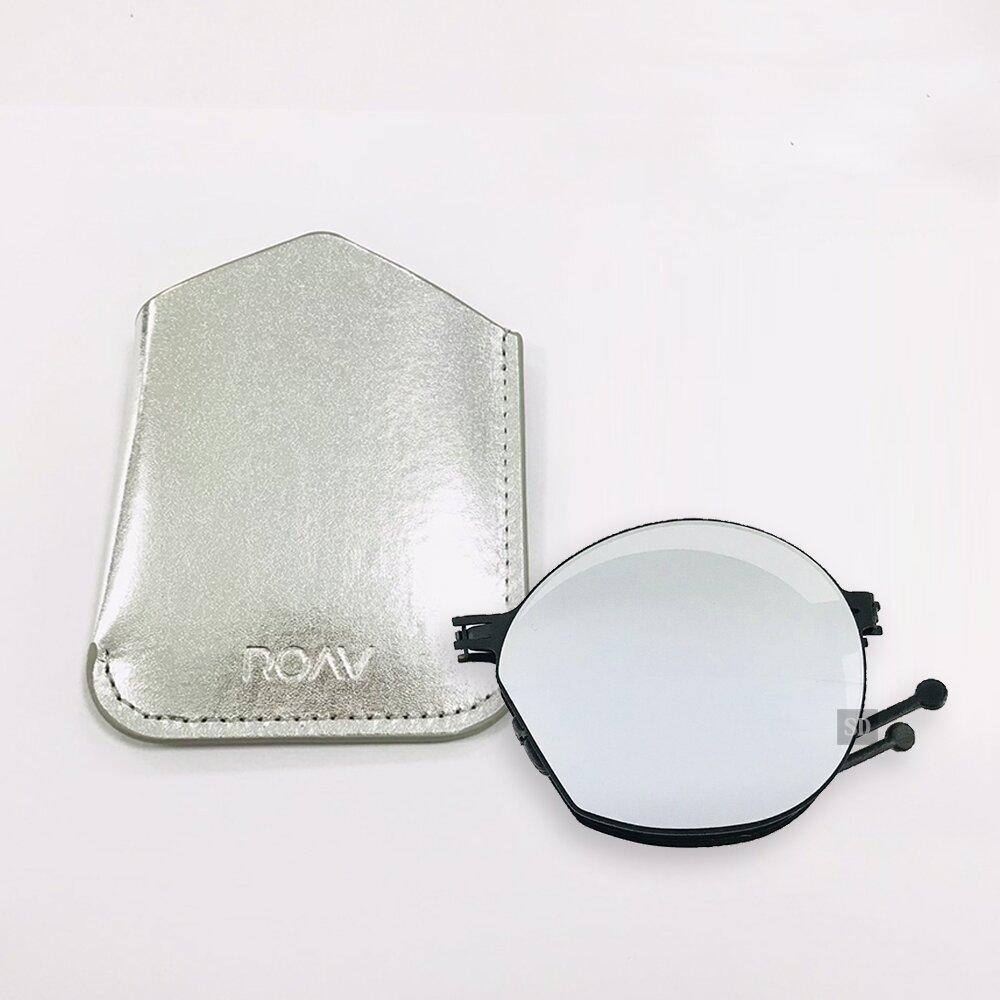 【ROAV】薄鋼 太陽眼鏡 折疊墨鏡 NY003 C13.61 白水銀 圓形太陽眼鏡 美國 OVERSIZE Virgil 63mm