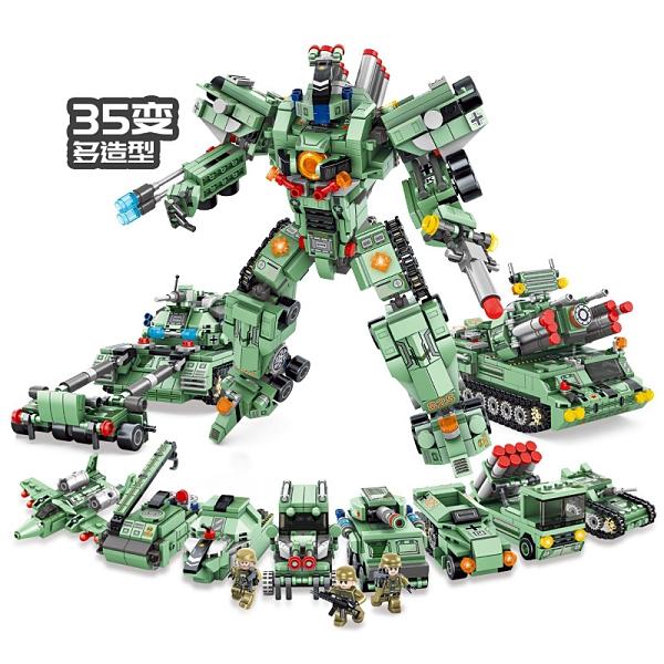 兒童玩具兒童禮物 早教玩具 積木軍事人仔拼裝拼插玩具兼容樂高 積木坦克智力模型 益智玩具