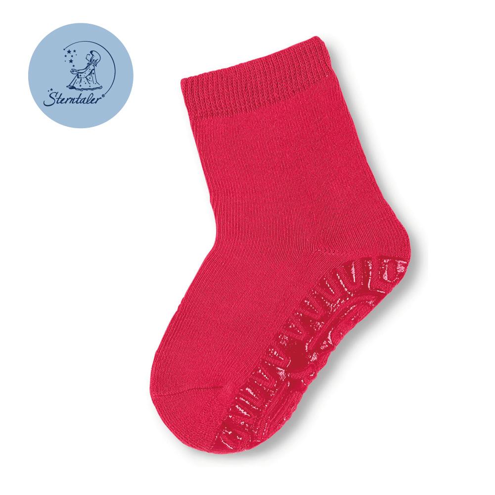 STERNTALER 素色加厚防滑棉襪-石榴紅